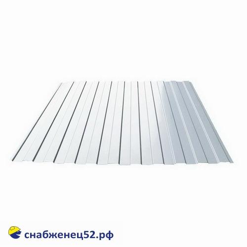 Профнастил С-8 0,35мм (2м) (шир.1.2м), RAL 9003 белый, Grand Line