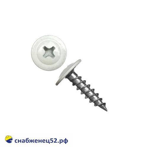 Саморез мет-мет прессшайба (RAL 9003 белый) 4,2*13 острие